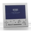 satin silver occasion frame first communion 5