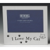 satin silver occasion frame i love my cat 5x3