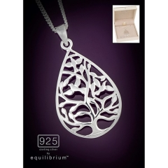 equilibrium 925 silver necklace drop tree289003