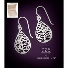 equilibrium 925 silver earrings drop tree