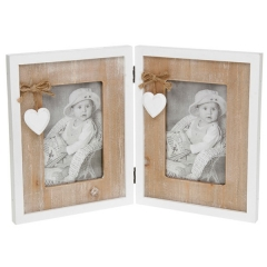 provence heart double frame 4x6