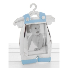 silver blue baby romper frame