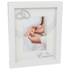 gloss white 4x6 engagement frame