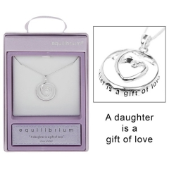 equilibrium silver plated heart circle necklace daughter54451