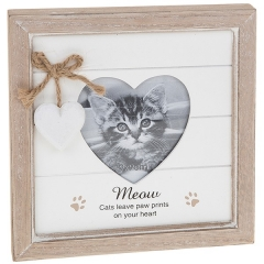 provence message heart frame cat