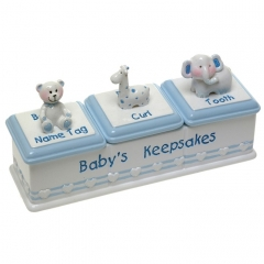 baby boy triple keepsake box