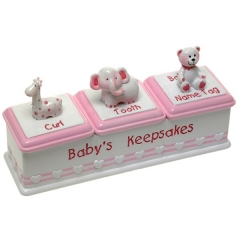 baby girl triple keepsake box