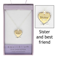 equilibrium layered heart necklace sister