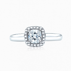 square cut zirconia ring