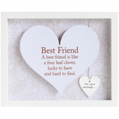 'best friend' heart frame