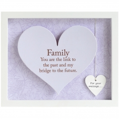 'family' heart frame