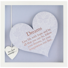 'dreams' heart frame