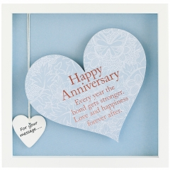 'happy anniversary' heart frame