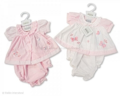 premature baby dress - butterflies