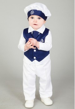 4 piece christing suit navy