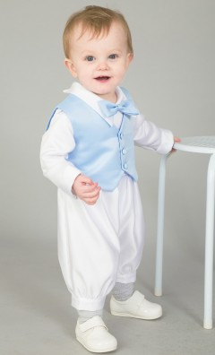 3 piece christening suit light blue