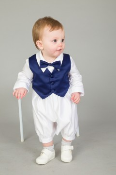 3 piece christening suit navy